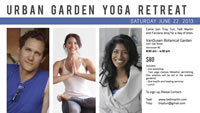 "Urban ""Garden"" Yoga Retreat - June 22, 2013"