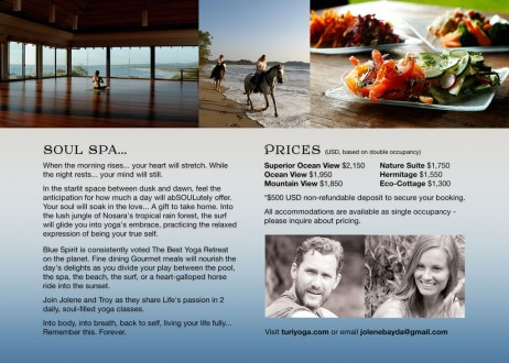 Costa Rica Yoga Retreat Brochure