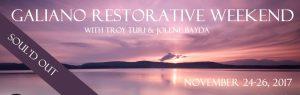 Galiano Restorative Weekend