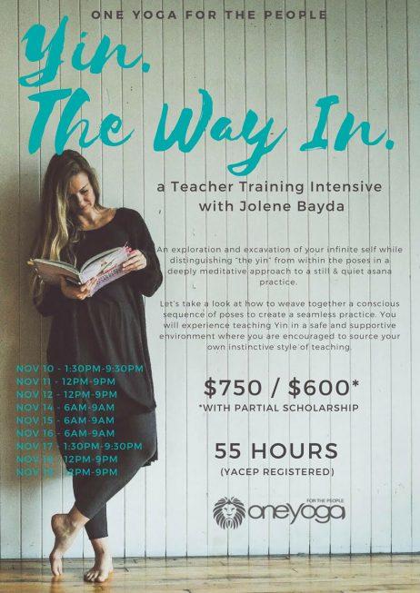 Yin. The Way In. With Jolene Bayda
